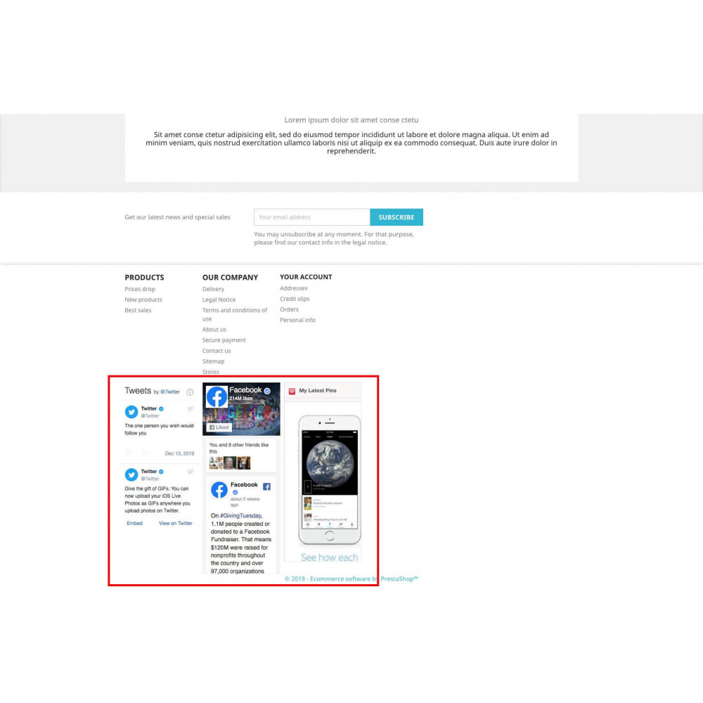 module - Widgets sozialer Netzwerke - Social Widgets + Buttons 3 in 1 - 8