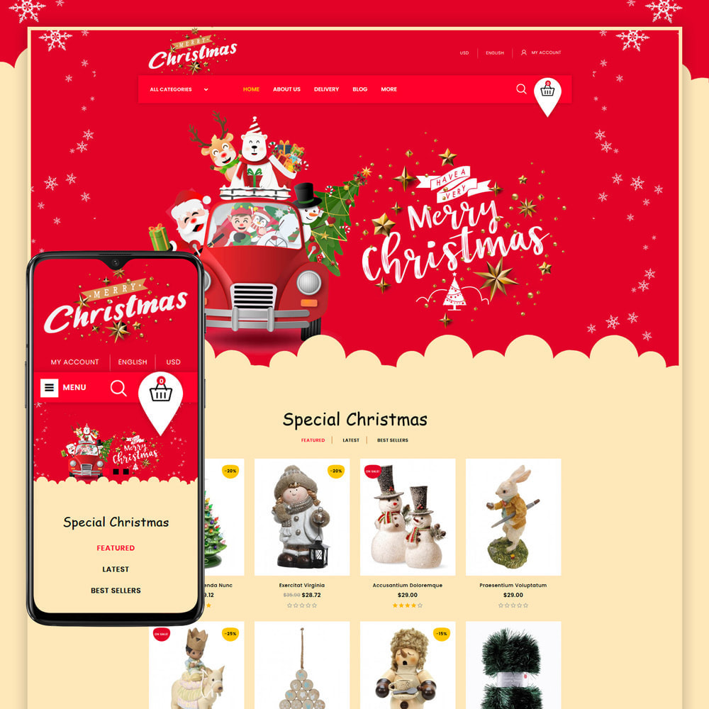 theme - Gifts, Flowers & Celebrations - Merry-Christmas - Christmas Store - 1