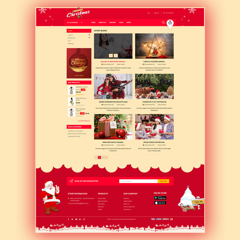 theme - Gifts, Flowers & Celebrations - Merry-Christmas - Christmas Store - 7