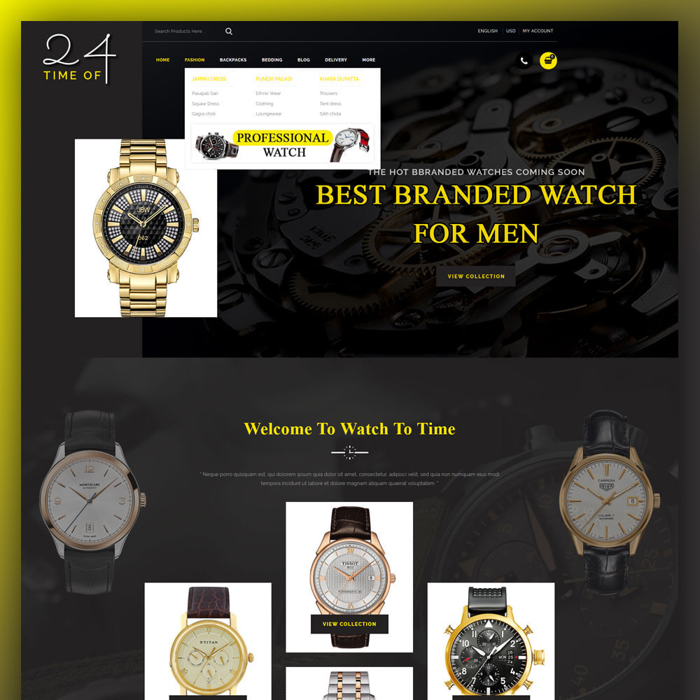 theme - Jewelry & Accessories - 24 Time of - Watch Store - 2