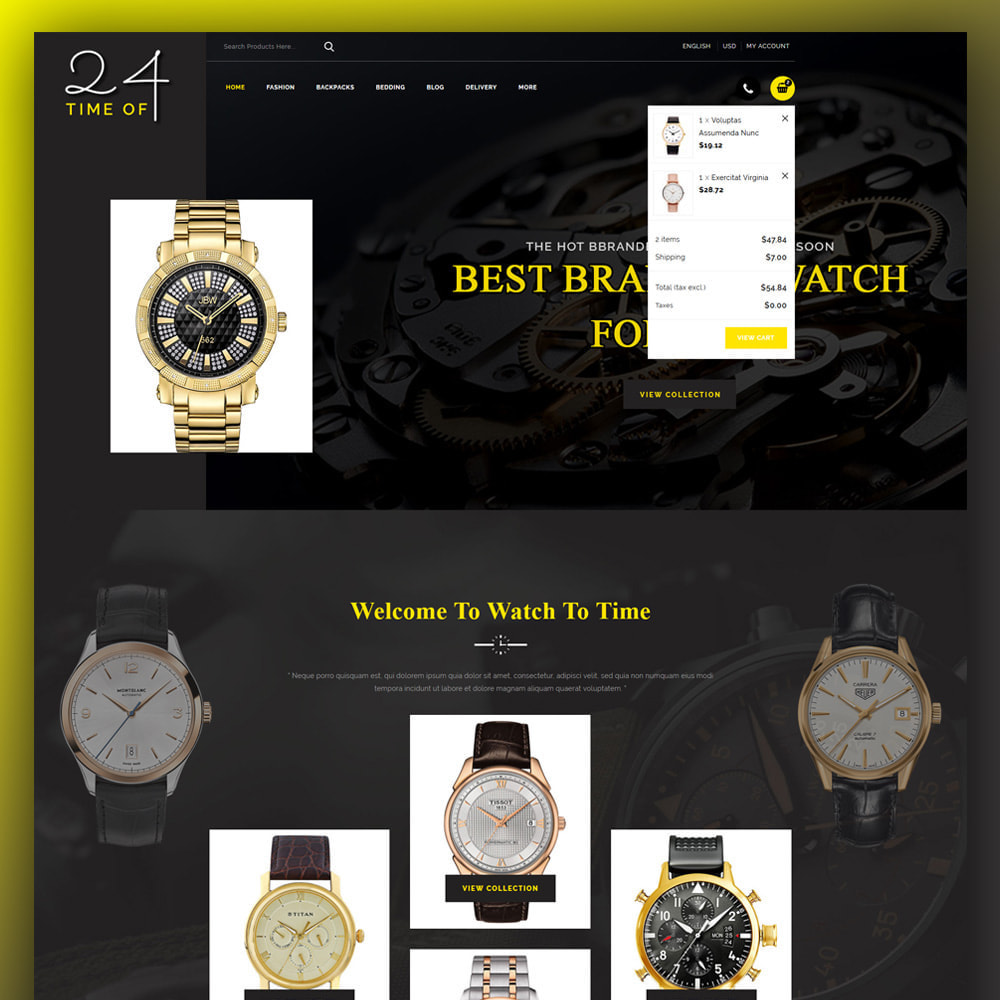 theme - Jewelry & Accessories - 24 Time of - Watch Store - 3