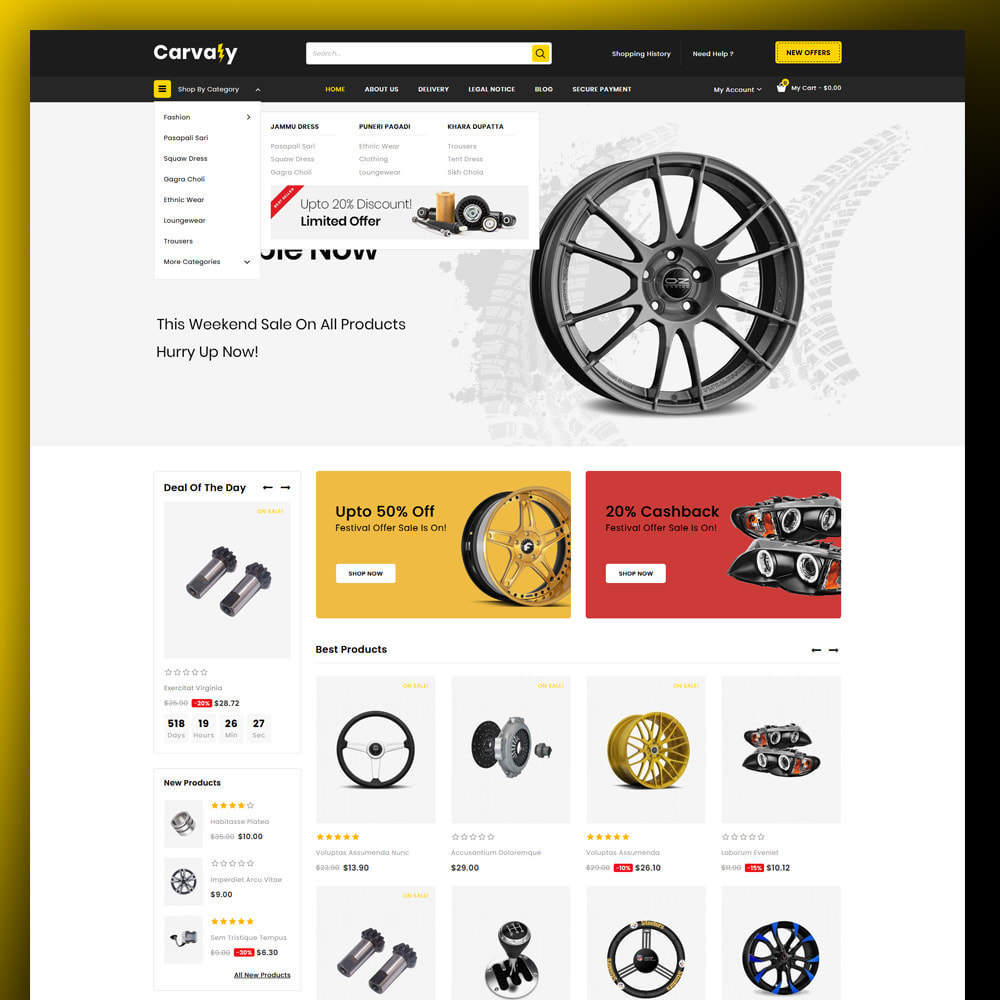 theme - Automotive & Cars - Cavaly - Autopart Store - 2