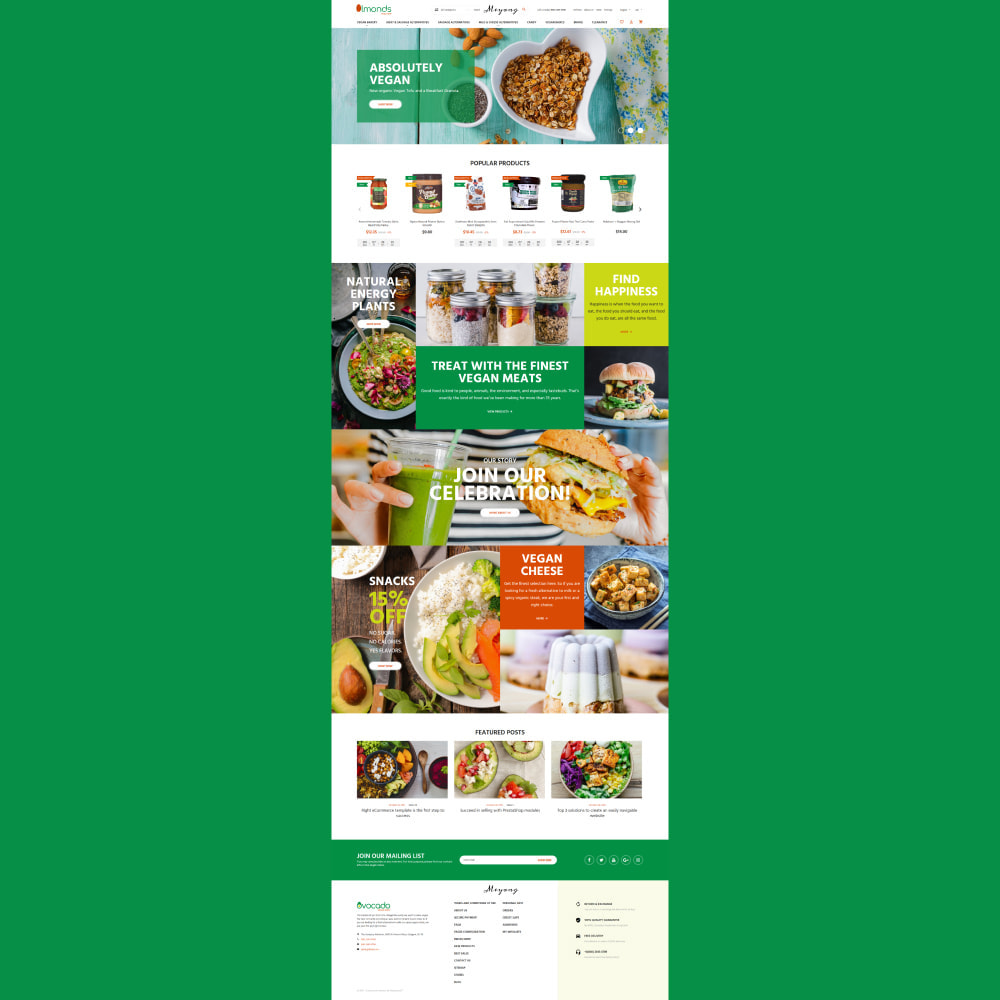theme - Alimentation & Restauration - Almonds - Vegan Shop - 3