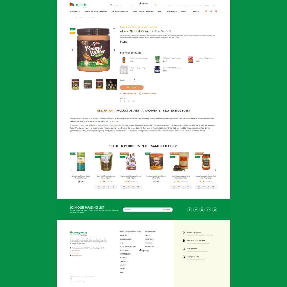 theme - Alimentation & Restauration - Almonds - Vegan Shop - 6