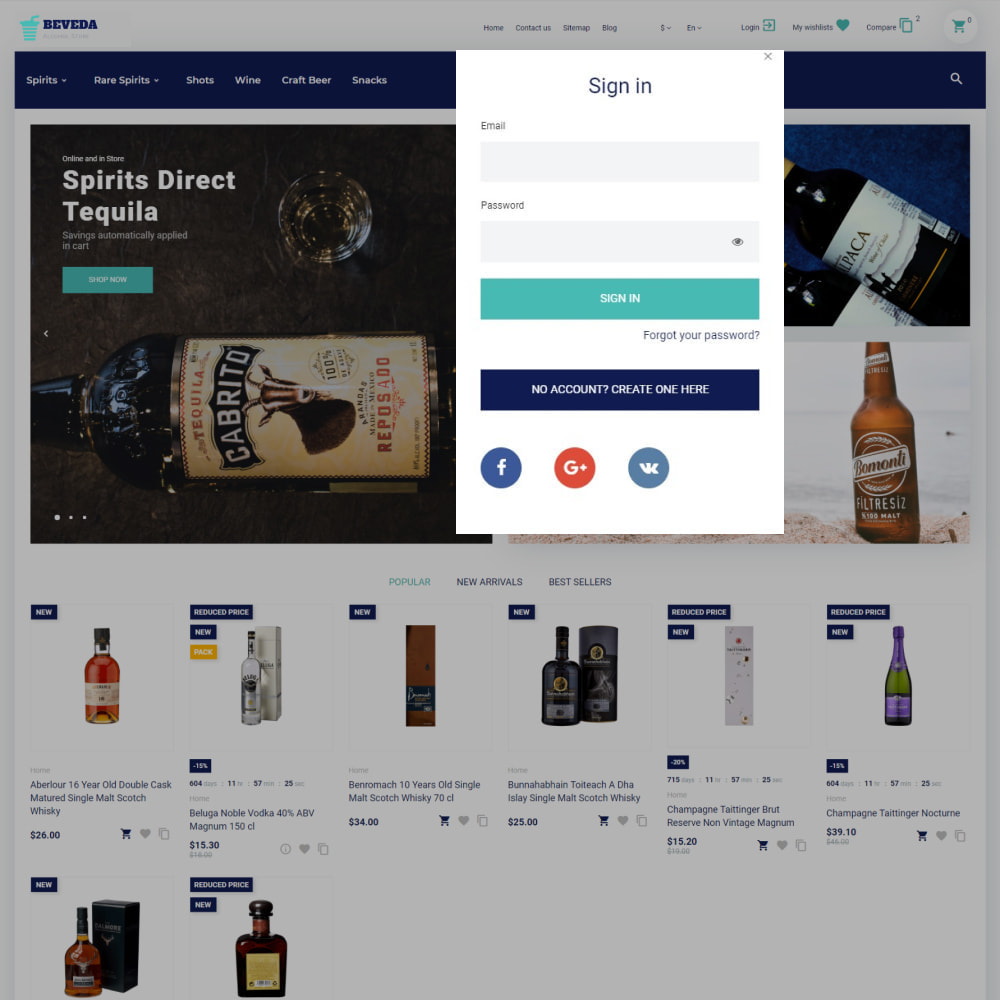 theme - Drink & Wine - Beveda - Alcohol Shop - 4