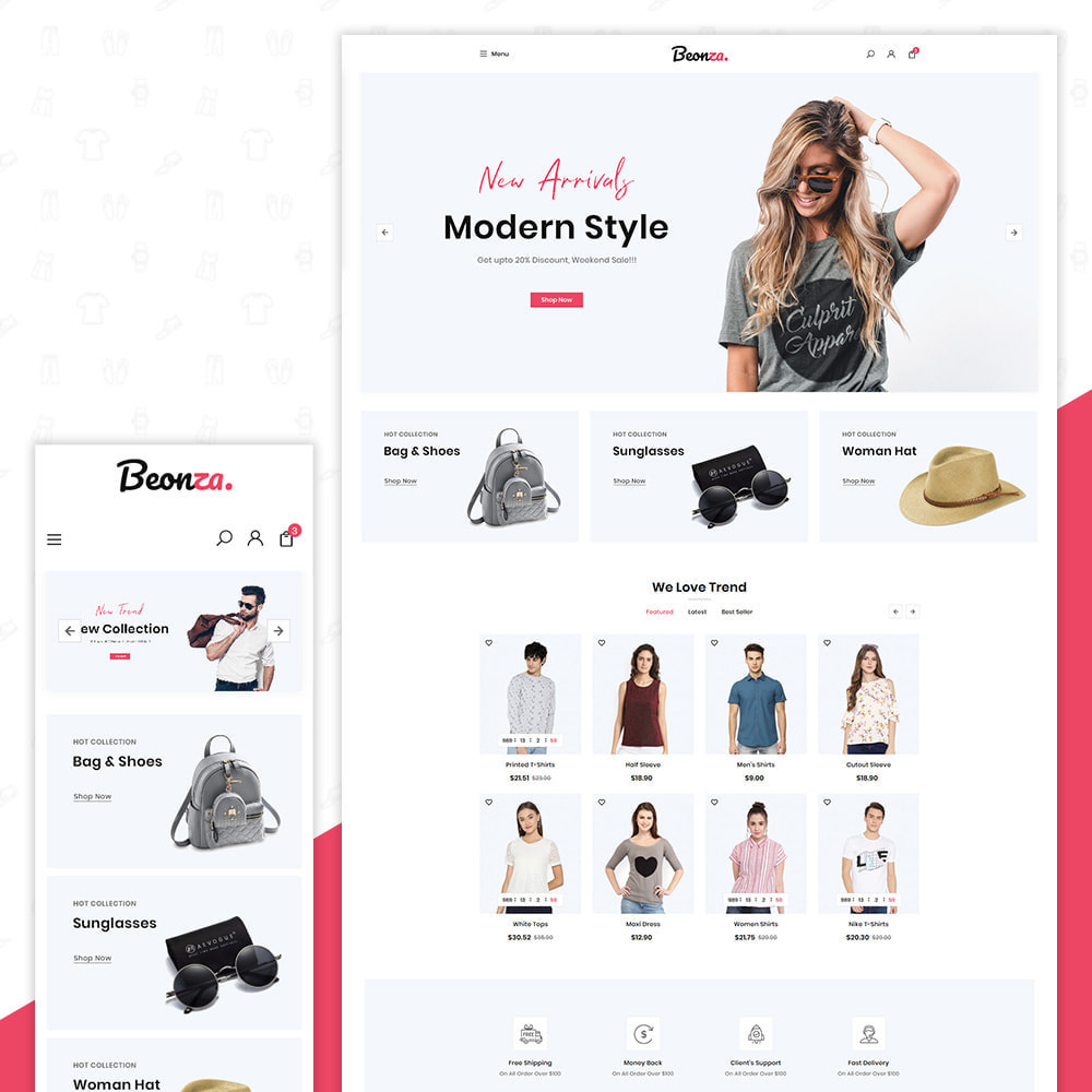 theme - Fashion & Shoes - Beonza Fashion Store - 1