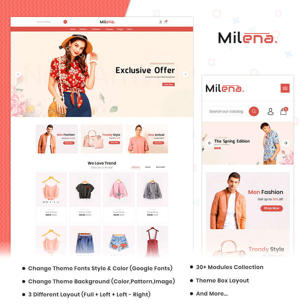 theme - Moda & Calzature - Milena Fashion Super Store - 1