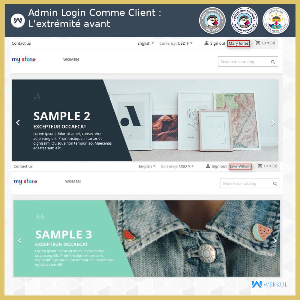 module - Service Client - Connexion administrateur en tant que client - 4