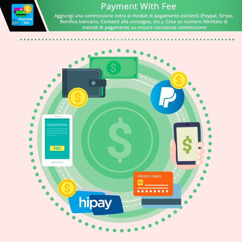module - Altri Metodi di Pagamento - Payment With Fee: Paypal, Stripe, bonifico, ecc. - 1
