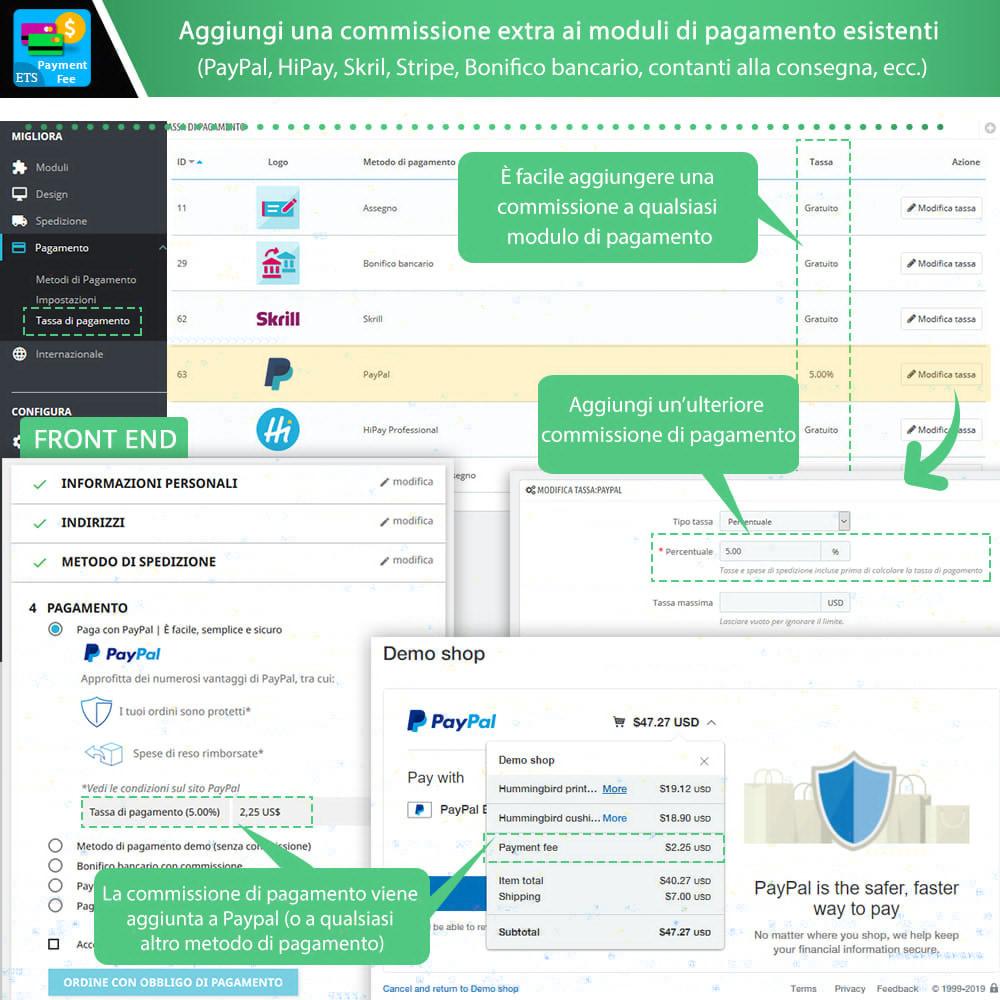 module - Altri Metodi di Pagamento - Payment With Fee: Paypal, Stripe, bonifico, ecc. - 2