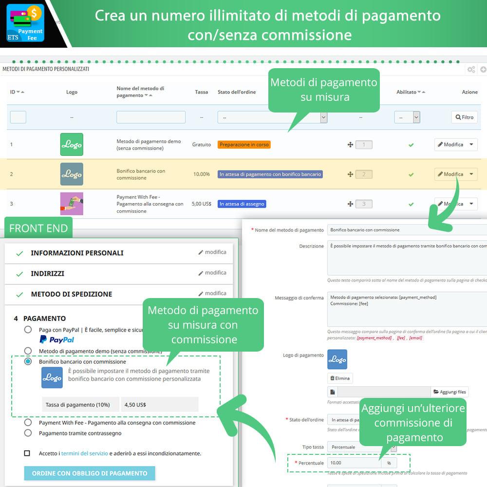 module - Altri Metodi di Pagamento - Payment With Fee: Paypal, Stripe, bonifico, ecc. - 3