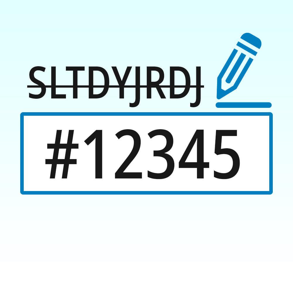 module - Procedury składania zamówień - Sprawdź kolejność i niestandardową kolejność numerów - 1