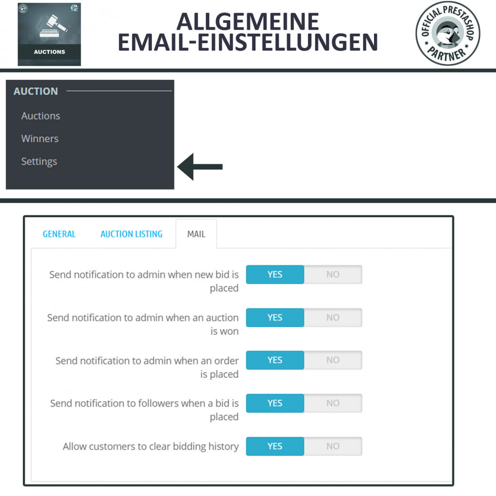 module - Auktionsseiten - Auktion Pro, Online-Auktions und Gebotsmanagement - 19