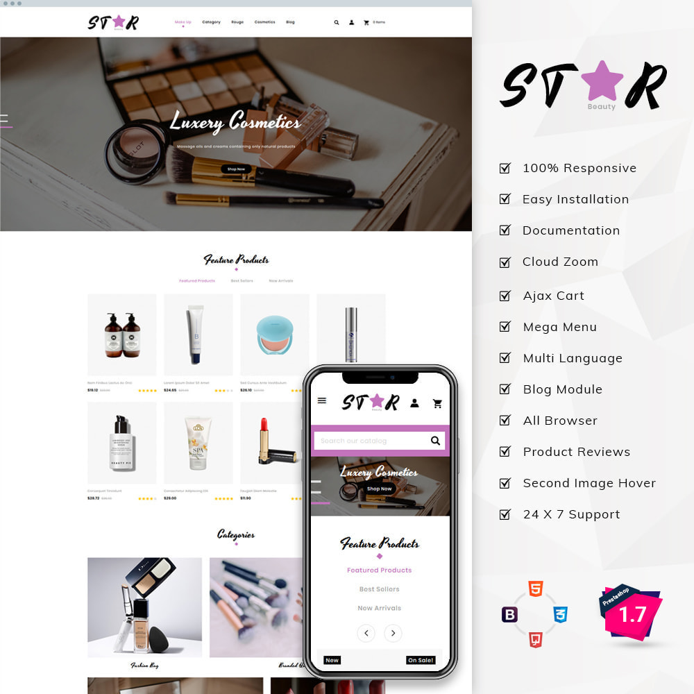 theme - Fashion & Shoes - Star Cosmetic Store - 1