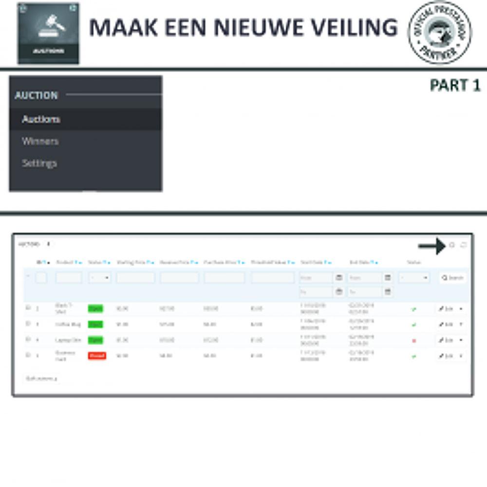 module - Bouw een veilingsite - Auction Pro, Online veilingen en biedingen - 12