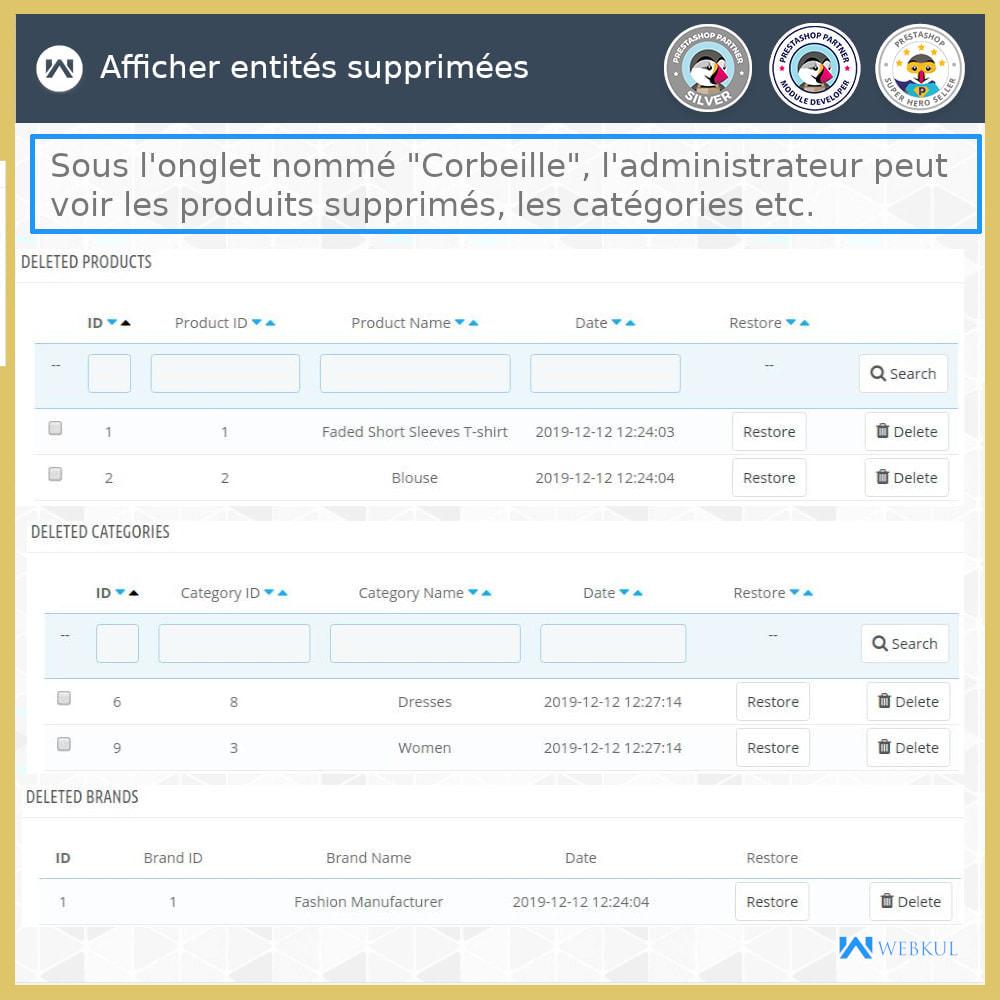 module - Migration de Données & Sauvegarde - Restaurer Données Supprimées - 1