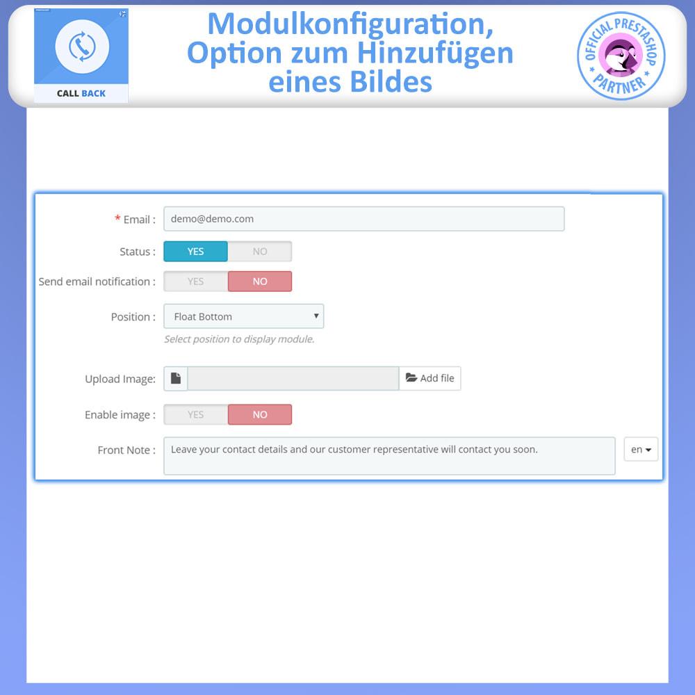 module - Support & Online-Chat - Rückruf – Fixiertes & Schwebendes Rückruf-Formular - 5