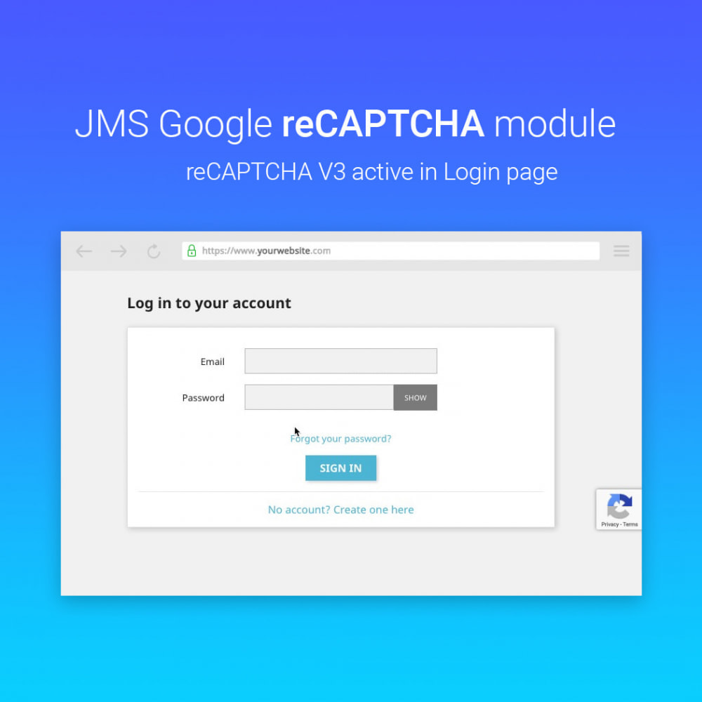 module - Security & Access - JMS reCAPTCHA - Anti spam with invisible reCAPTCHA - 6
