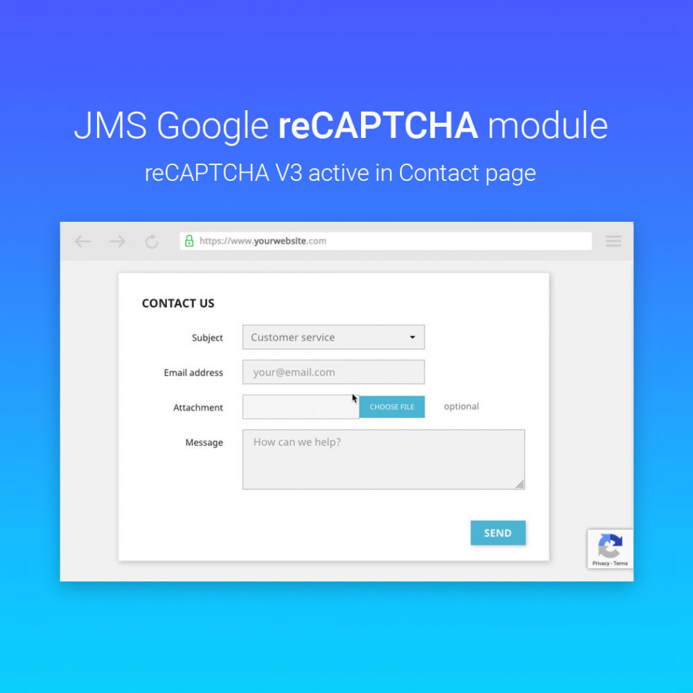module - Sicherheit & Berechtigungen - JMS reCAPTCHA - Anti spam with invisible reCAPTCHA - 7