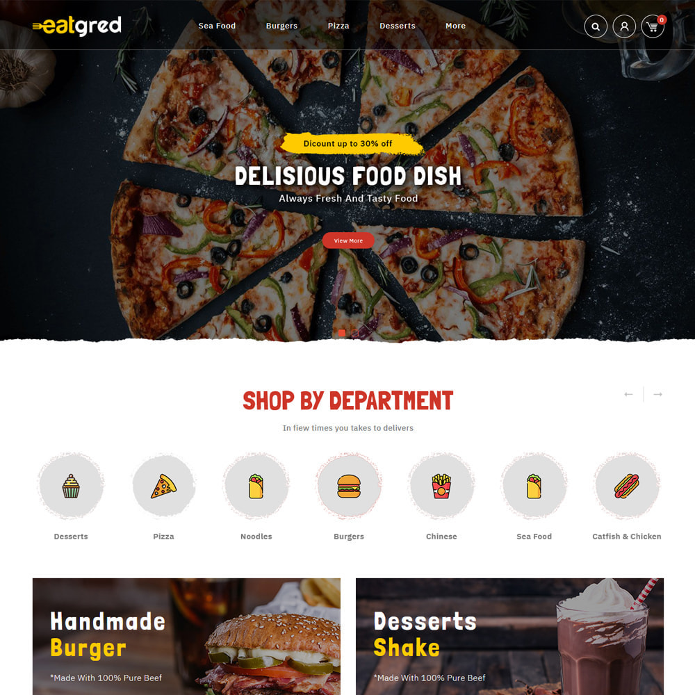 theme - Food & Restaurant - Eatgred - Food Store - 2