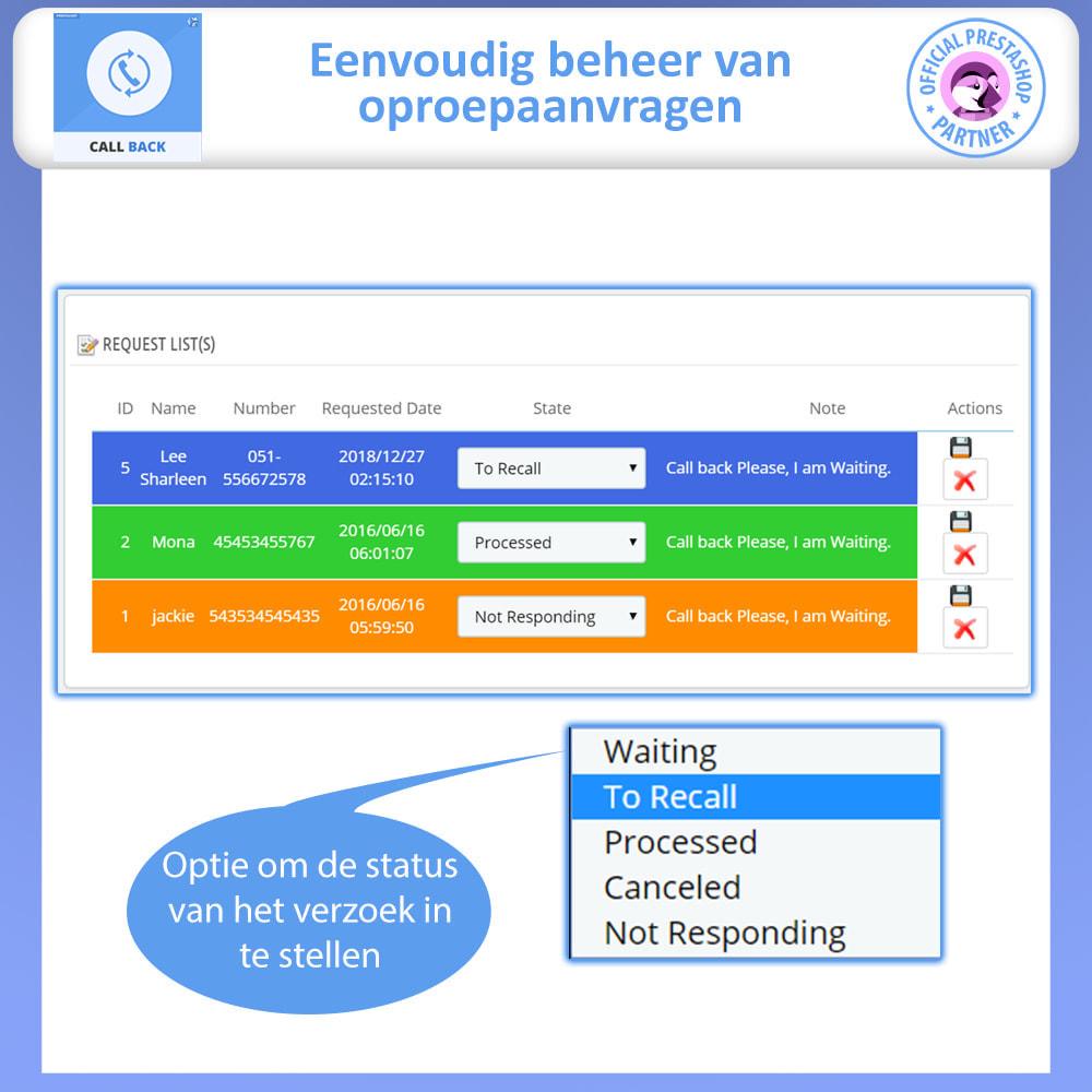module - Ondersteuning & Online chat - Terugbellen - vast en zwevend terugbelformulier - 4