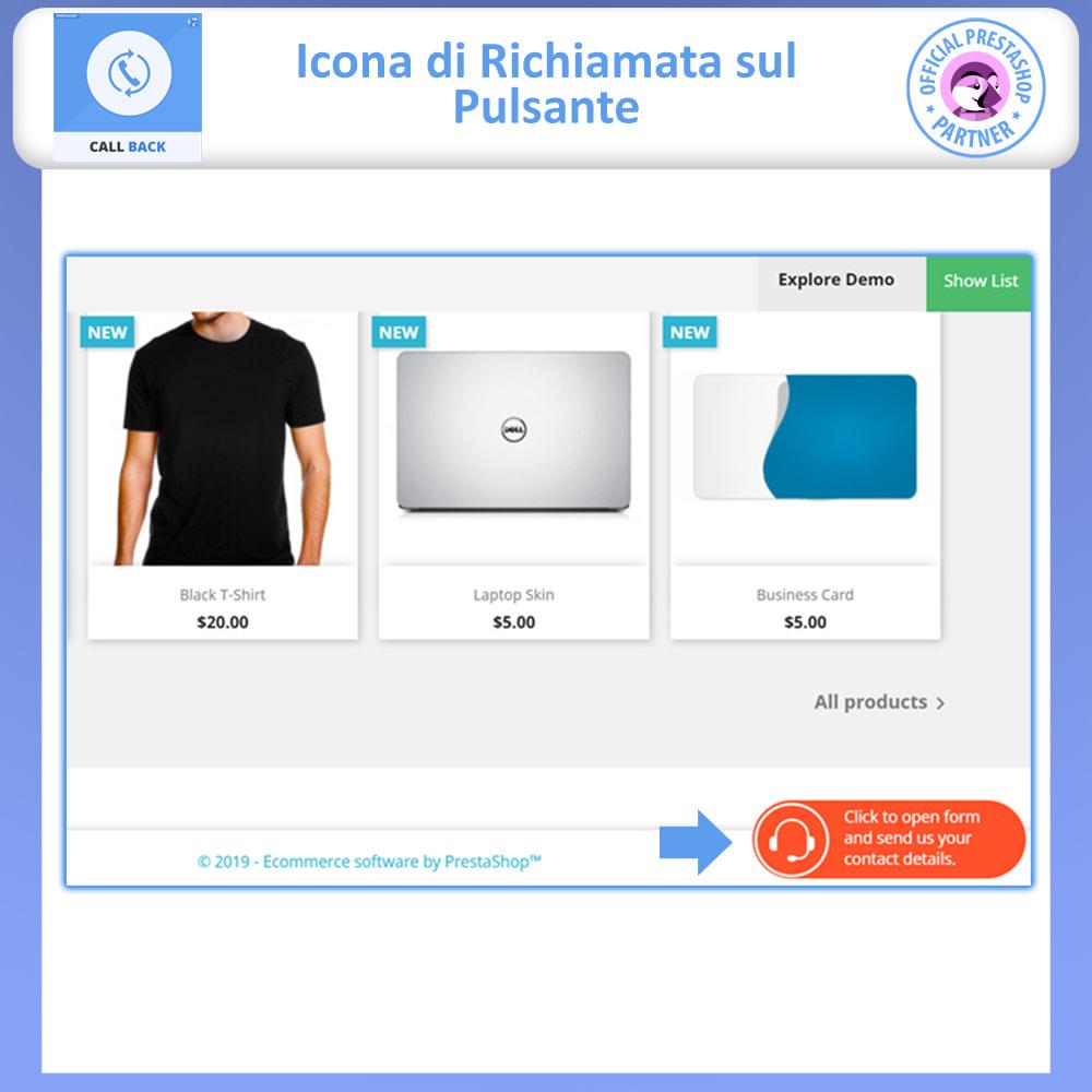 module - Supporto & Chat online - Call Back - Modulo di Richiamo Fisso e Mobile - 2
