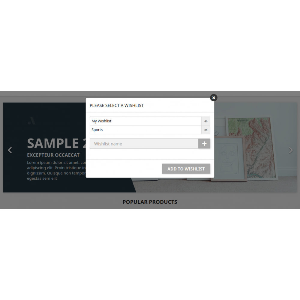 module - Wishlist & Gift Card - Advance and Multiple Wishlists (Save for later) - 4