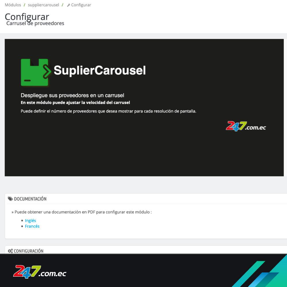 module - Slider & Gallerie - Supplier carousel - 1