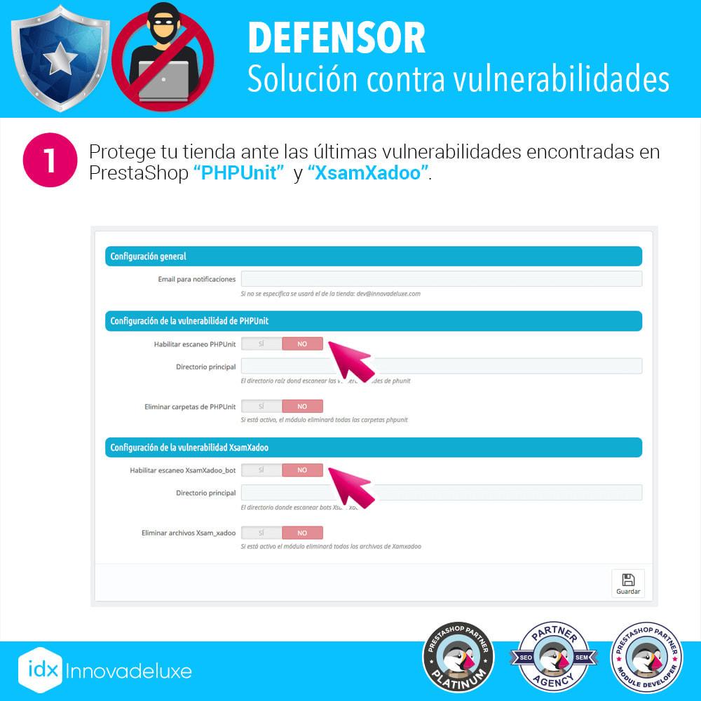 module - Administración del sitio - Eliminación de vulnerabilidades PHPUnit y XsamXadoo - 2