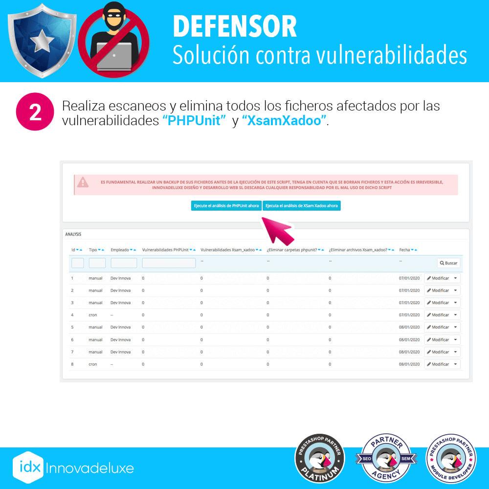 module - Administración del sitio - Eliminación de vulnerabilidades PHPUnit y XsamXadoo - 3