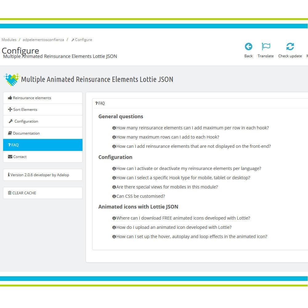 module - Personalizzazione pagine - Aggiungi elementi di fiducia multipli animati - Lottie - 9