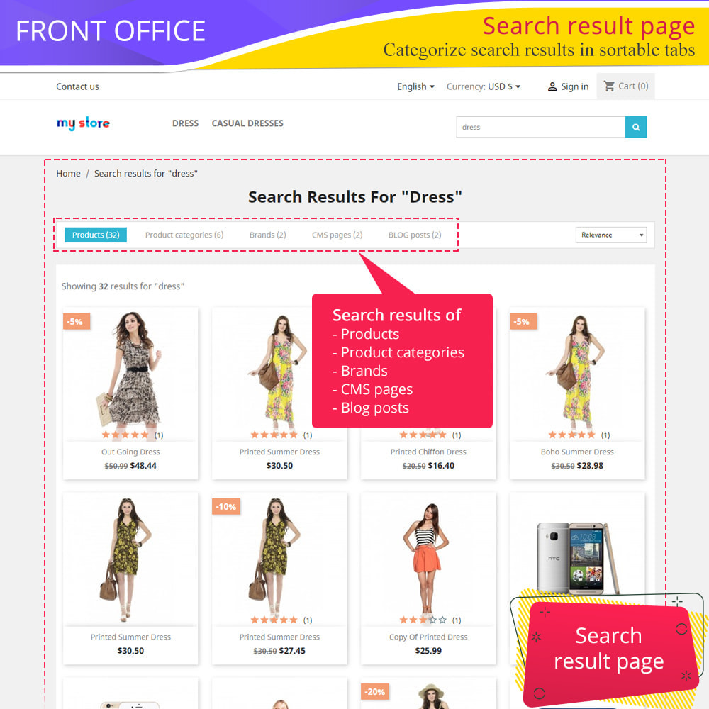 module - Ricerche & Filtri - Total Search Pro: products, categories, CMS and more - 2