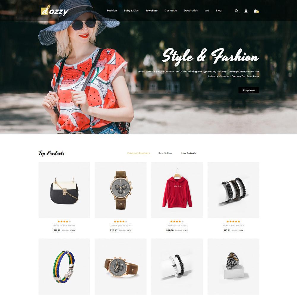theme - Мода и обувь - Dozzy Fashion Shop - 2