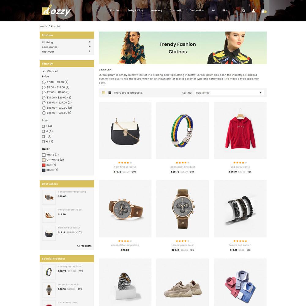 theme - Мода и обувь - Dozzy Fashion Shop - 3