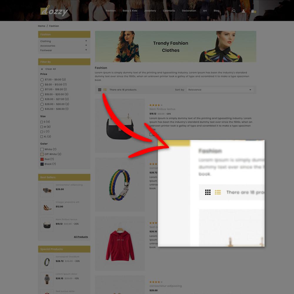 theme - Мода и обувь - Dozzy Fashion Shop - 6