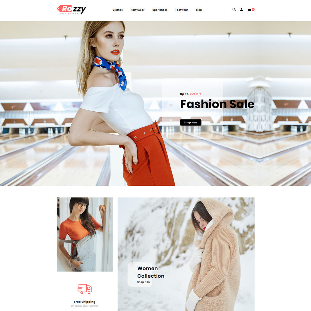 theme - Мода и обувь - Rozzy Fashion Store - 2