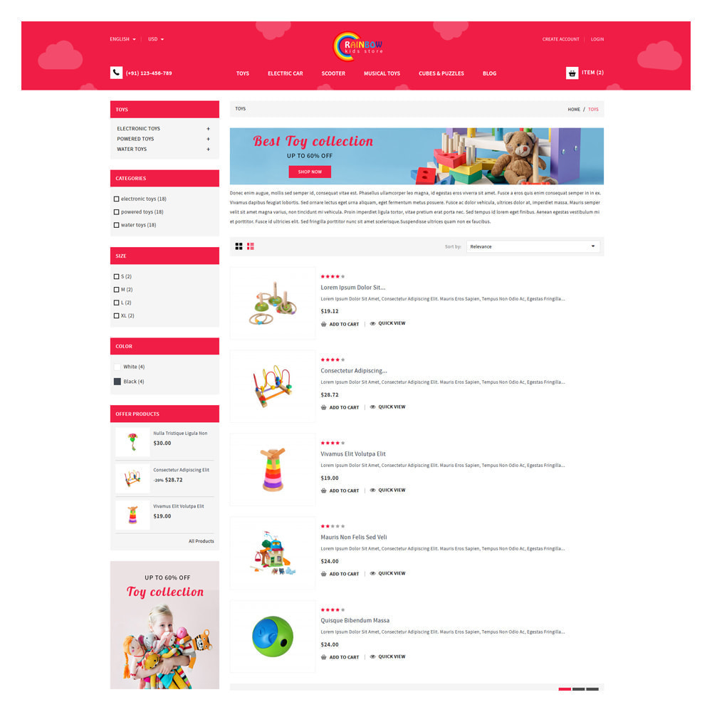 theme - Zabawki & Artykuły dziecięce - Rainbow Kids & Toys Store - 4