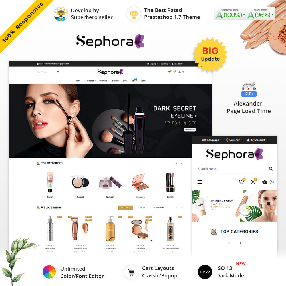 theme - Здоровье и красота - Sephora Mega Bio–Cosmetics Health–Beauty Super Store - 2