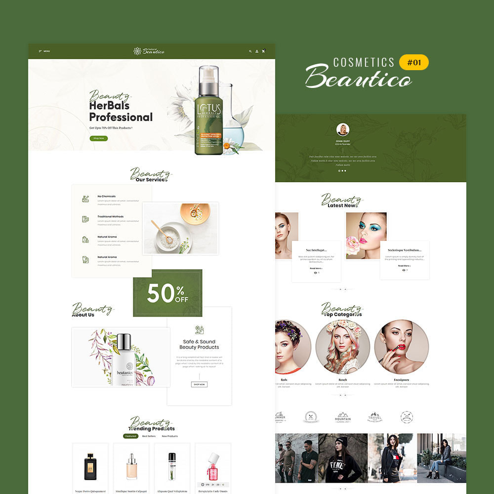 theme - Saúde & Beleza - Beautico - Beauty & Cosmetics - 2