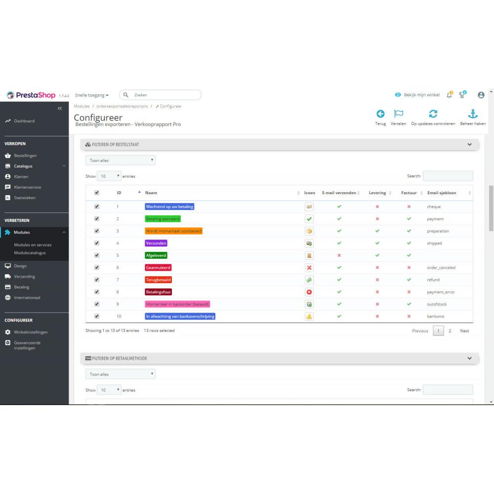 module - Importeren en Exporteren van data - Verkooprapport Pro - Bestellingen Exporteren - 4