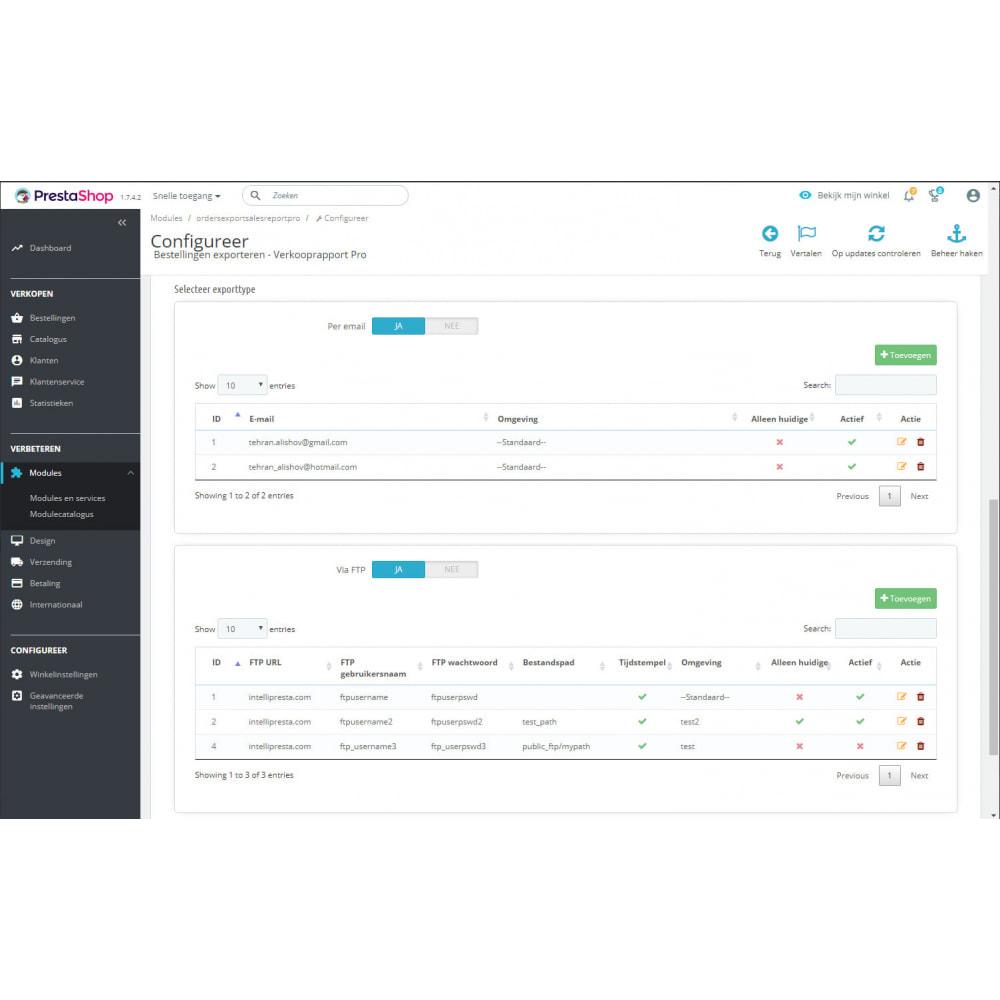 module - Importeren en Exporteren van data - Geavanceerde Verkooprapporten - Beste Export - 9