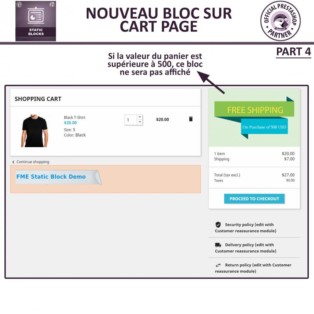 module - Blocs, Onglets & Bannières - Blocs Statiques - Ajouter HTML, Texte, Blocs de Média - 10