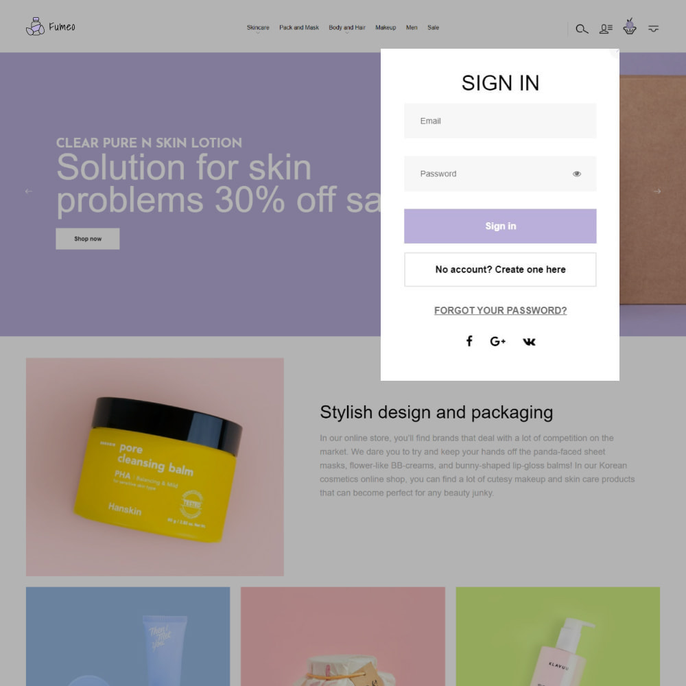theme - Zdrowie & Uroda - Fumeo - Korean Beauty Store - 4