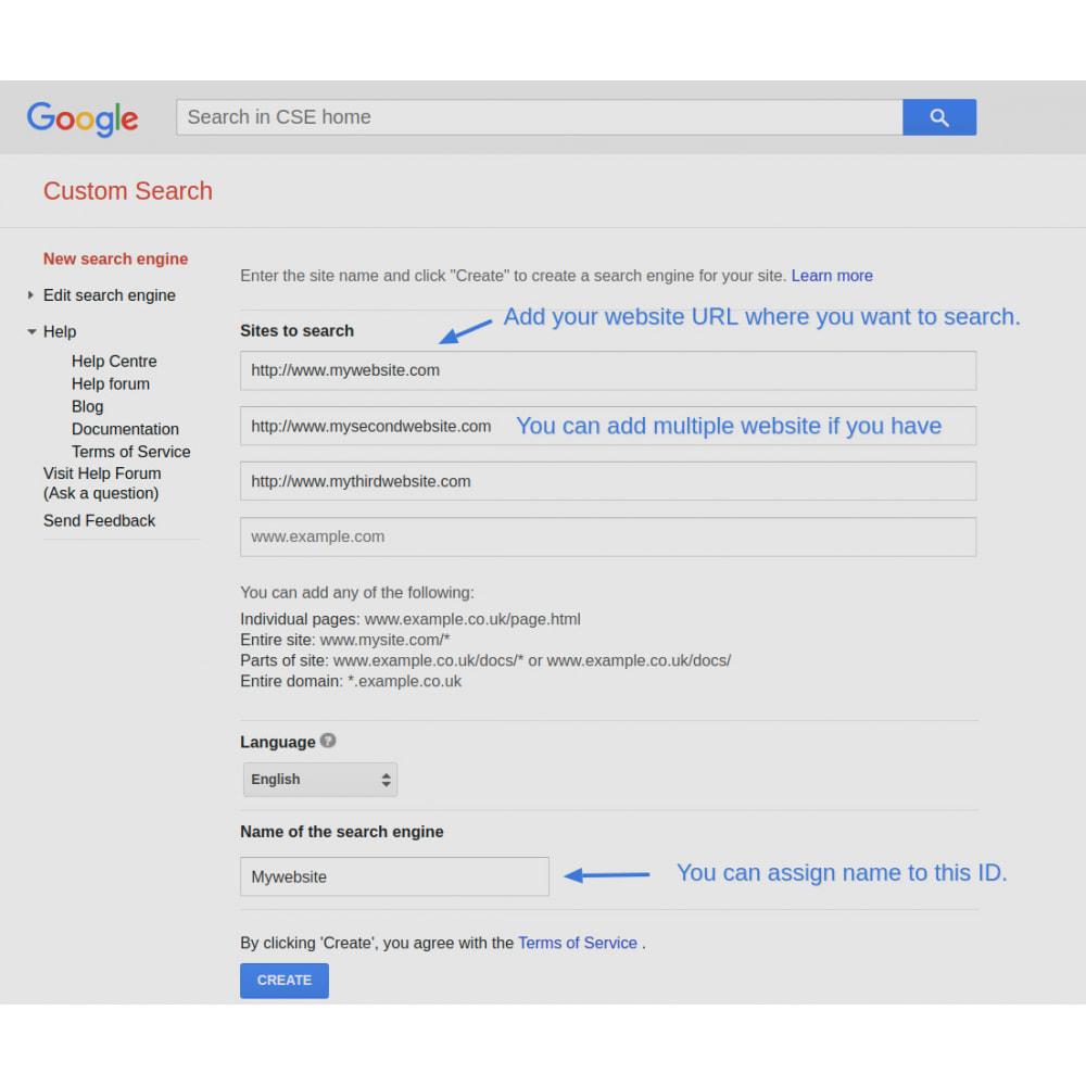 module - SEO (Indicizzazione naturale) - Google Custom Search Engine Pro - 9