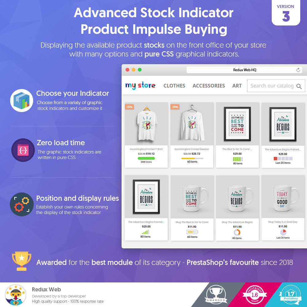 module - Stock & Supplier Management - Advanced Stock Indicator - Product Impulse Buying - 1