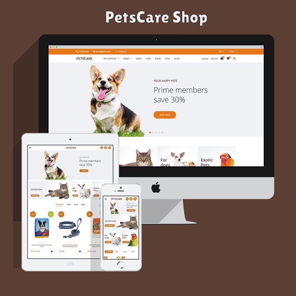 theme - Animals & Pets - PetsCare - Pets Shop - 2