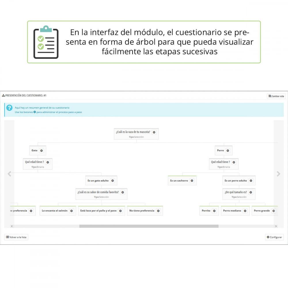 module - Formulario de contacto y Sondeos - Asesoramiento de producto por cuestionario - 3