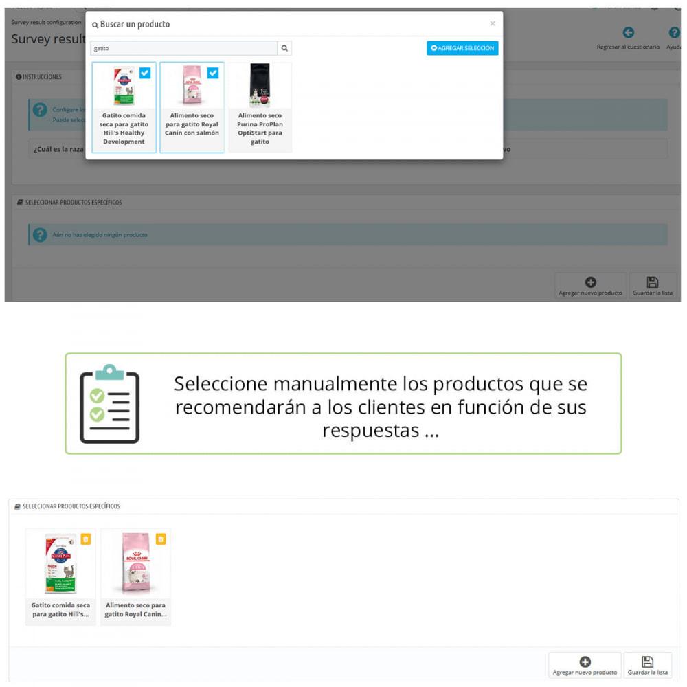 module - Formulario de contacto y Sondeos - Asesoramiento de producto por cuestionario - 4