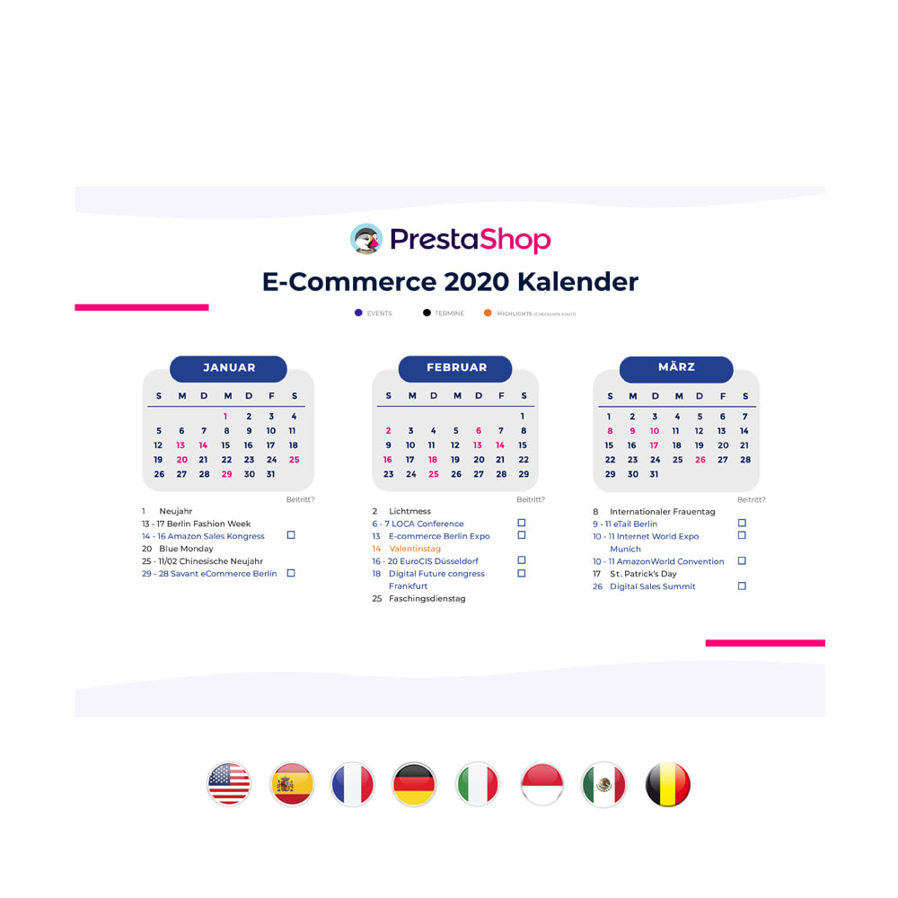 other - Calendario e-Commerce - Calendario de comercio electrónico 2020 ALEMANIA - 2