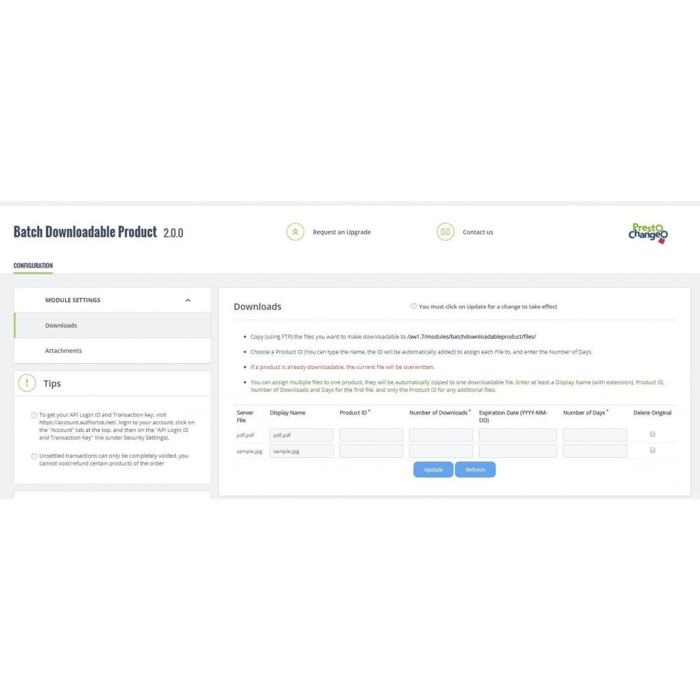 module - Virtuele producten - Batch Downloadable Product - 4